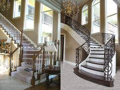 Stair Remodel Before/After #1