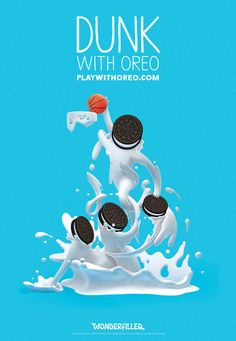 "10 | See What Happens When Oreo Asks Artists To Make Playful Cookie-Masterpieces | Co.Create | creativity + culture + commerce    ""Dunk"" from Spanish graphic designer, illustrator and typographer Alex Trochut, along with 3D artist Freddy Arenas."