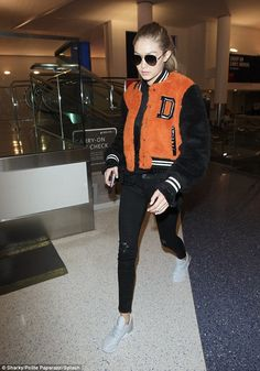 Gigi Hadid doesn't let a cross-coastal red eye stop her from rocking some of this season's top must-have trends  | Daily Mail Online
