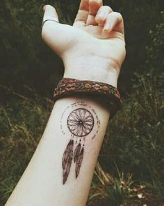 small dreamcatcher tattoo on wrist - Google Search