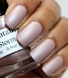 Mentality Nail Polish - Storm. Swatch by Refined and Polished.