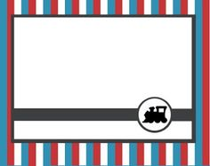 Spaghetti Westerner: {Free Printables} Modern DIY Red and Blue Train Party