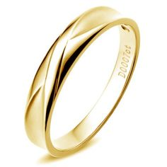 Alliance Homme. Or jaune. Diamant 0.007ct