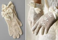 Clothing:  Vintage lace gloves.