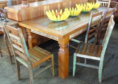 Wooden Dining Table Designs, Wooden Dining Tables, Wood Bed Design, Used Woodworking Tools, Wood Beds, Phone, Furniture, Pallet Dining Tables, Wooden Folding Chairs