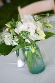 Mason Jar vase idea for engagement party?