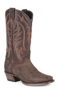 Stetson Men's Ring Tail Lizard Cowboy Boots - HeadWest Outfitters