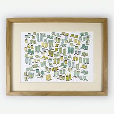More Shoes Giclee Print by AnkeWeckmann on Etsy