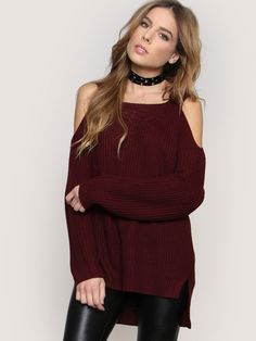 Forget Me Not Sweater - Burgundy - Gypsy Warrior