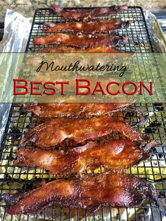 Want the most mouthwatering bacon ever? Try this recipe for the Best Bacon Ever! Roasted Potato Recipes, Bacon Recipes, Cooking Recipes, Yummy Recipes, Cooking 101, Grilling Recipes, Cooking Ideas, Food Ideas, Best Breakfast Recipes