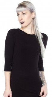 Sourpuss Audrey Top in Black Blame Betty