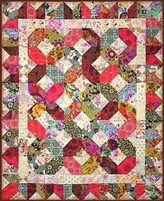 This pattern uses light and dark fabrics to make this beautiful contrasting quilt design. The quilt is shown in Asian fabrics, but Batiks, florals and novelty prints would look stunning.Finished size: 54 x 66 Quilt Baby, Scrappy Quilts, Easy Quilts, Batik Quilts, Quilting Projects, Quilting Designs, Quilt Design, Quilting Tutorials, Patch Quilt