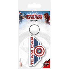 "Portachiavi con pendente ""Team Cap"" di #CaptainAmerica Civil War."