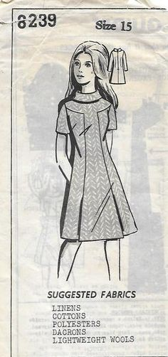 5d7d52412d2b Dress Sewing Patterns, Vintage Sewing Patterns, High Collar, Pleated Skirt,  Color Blocking