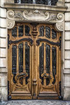 Art Nouveau Door Photograph - Art Nouveau Door by Georgia Fowler