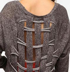 Терзаем свитер (подборка) / Свитер или кардиган: вторая жизнь / Своими руками - выкройки, переделка одежды, декор интерьера своими руками - от ВТОРАЯ УЛИЦА