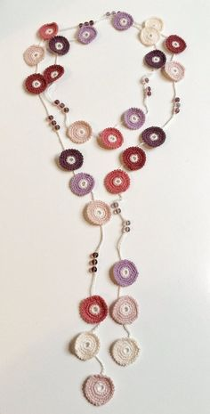Rose shades Turkish style beaded crochet necklace – Cindy Brehler Rose shades Turkish style beaded crochet necklace Rose shades Turkish style beaded crochet by GabyCrochetCrafts Crochet Beaded Necklace, Bead Crochet, Diy Crochet, Crochet Crafts, Crochet Jewellery, Diy Jewelry, Jewelery, Handmade Jewelry, Turkish Fashion