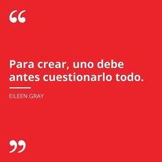 #DiseniaQuotes  #EileenGrey (1978-1976) fue una diseñadora de interiores y arquitecta irlandesa. Una de las primeras mujeres reconocidas internacionalmente en la actividad del diseño industrial.