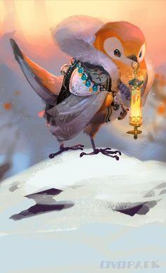 I am a house wren who needs a summer house - cool art - Fantastical Creatures Creature Concept Art, Creature Design, Animal Drawings, Art Drawings, Concept Art Landscape, City Landscape, Arte Do Kawaii, Art Disney, Art Anime