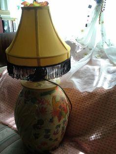 Decoupage lamp.winter color