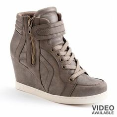1 YES!!!!! I saw these at Khols a while ago but I really like the whole sneaker heels wedge deal