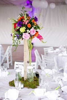 lush hanging floral centerpieces | Bella Fiori designs flowers for weddings in California - Napa, Sonoma ...