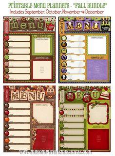 fall menu bundle!