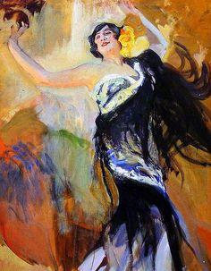 Joaquín Sorolla y Bastida, Bailaora flamenca, 1914 on ArtStack #joaquin-sorolla-y-bastida #art