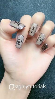 10 Most Popular Step By Step Nail Art Tutorials Nail Art Designs Videos, Cute Nail Designs, Funky Nails, Cute Nails, Gel Nails, Manicure, Nail Nail, Nail Selection, Beauty Nail