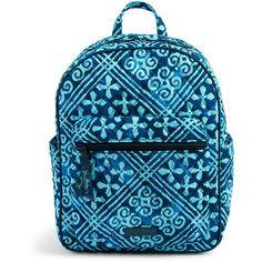 Vera Bradley Leighton Backpack in Imperial Rose (4,075 DOP) ❤ liked on Polyvore featuring bags, backpacks, cuban tiles, zip bag, lightweight daypack, zipper bag, lightweight bags and cotton bags