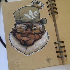 Just sketching... #cheo #oldschool #bboy #sketch