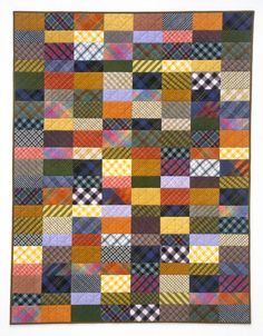 """Tertiary"" plaid quilt by Rebecca Rohrkaste 