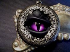 Steampunk Evil Eye Locket....cool..has great depth and expression... I want so bad