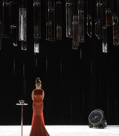 Natalie Dessay last month in a monologue of Howard Barker directed by Jacques Vincey with sets by Mathieu Lorry-Dupuy.