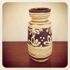 Vintage Scheurich West Germany Ceramic Vase 242-22.  on Etsy, $36.00