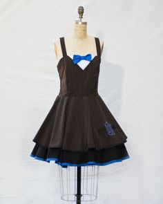 Doctor Who Eleven Retro Style Dress by Lameasaurus on Etsy, $120.00