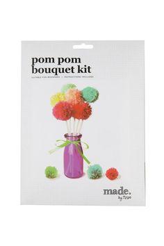 pom pom bouquet kit BRIGHTS