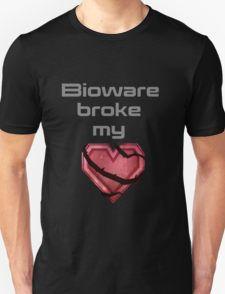 bioware broke my heart Unisex T-Shirt