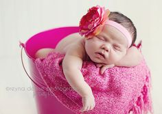 the Flora Collection Dream Pink Flower Headband baby by dollypriss, $9.99