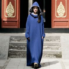BELLEFILLES Folk Long Tunic Retro Cotton and Linen Dress Plus Size Dresses