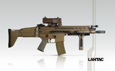 Select Fire SCAR16 with LANTAC DGN556B Dragon™ Muzzle Brake.