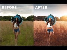 Photoshop CC Tutorial : Outdoor Portrait Editing  - YouTube