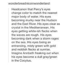 Dark!percy. Yes! But always still a avariaton of his same old green eyes
