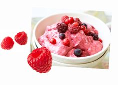 Instant frozen berry yogurt Greek yogurt has double the protein in a texture kids love. Keep them cool this summer with Cassie Best's easy and delicious recipe.