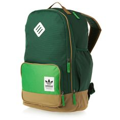 Adidas Originals Campus Backpack - Forest/Real Green | Free Delivery