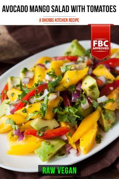 This zesty salad is addictive. Once you have one bite, it's impossible to not come back for more. The colors alone make you return for more bites. The sweet, refreshing mango pairs beautifully with the creamy avocado. Tomatoes and fresh lemon juice bring much needed acid to the party. Finally, the brightness from the red onion and cilantro set this salad on another level.