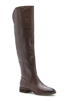 Over-the-knee brown leather riding boots | Sole Society Andie