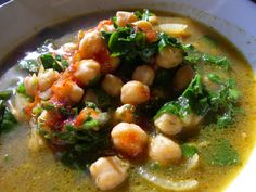 Chick pea and Rocket soup