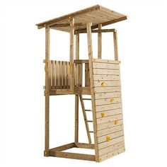 spielhaus garten play tower for back corner, needs refinement, but I like the small footprint and idea Backyard Fort, Backyard Playground, Backyard For Kids, Backyard Projects, Playhouse Kits, Build A Playhouse, Garden Playhouse, Kids Outdoor Play, Kids Play Area