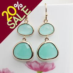 Gold or Rhodium Plated Simple Framed Double Glass by Linastory, $19.00